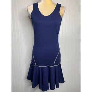 Amour Vert Navy Drop Waist Dress NWT